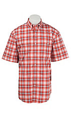 Wrangler Men's Advanced Comfort Short Sleeve Western Shirt MACS42M