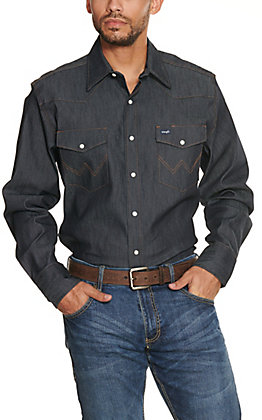 Wrangler Denim Advanced Comfort Long Sleeve Workshirt MACW01D- Alpha Sizes