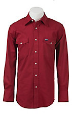 Wrangler Red Advanced Comfort Long Sleeve Workshirt MACW06R- Alpha Sizes