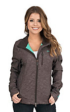 Cinch Women's Brown with Turquoise Accents Bonded Softshell Jacket