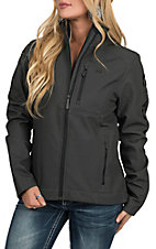 Cinch Women's Black Printed Bonded Jacket