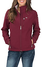 Cinch Women's Burgundy Printed Bonded Jacket