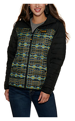 Cinch Women's Black Aztec Print Hooded Jacket