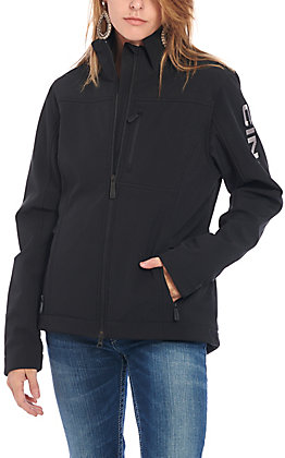 Cinch Women's Black with Grey Logo Concealed Carry Softshell Jacket