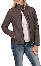 Cinch Women's Brown Bonded with Coral Logo Concealed Carry Pocket Jacket