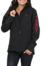 Cinch Women's Black Bonded with Hot Pink Logo Concealed Carry Pocket Jacket