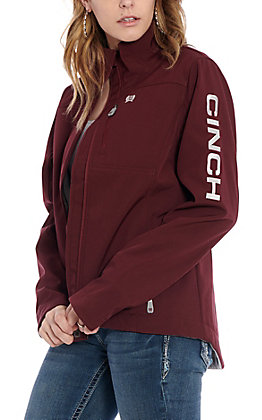 Cinch Women's Maroon with Logo Concealed Carry Softshell Jacket