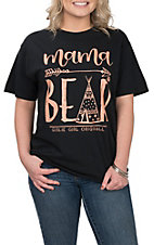 Girlie Girl Originals Women's Black Mama Bear TeePee S/S T-Shirt