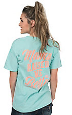 Girlie Girl Originals Women's Chalky Mint Mama Raised Sleeve Tee