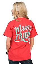 Girlie Girl Originals Women's Paprika Red Mama Tried Short Sleeve T-Shirt