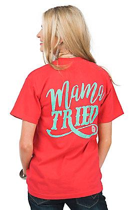 Girlie Girl Originals Women's Paprika Red Mama Tried Short Sleeve T-Shirt