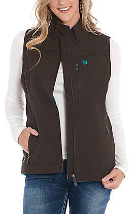 Cinch Women's Brown Logo Shoftshell Vest