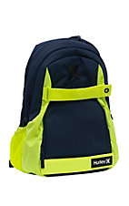Hurley Midnight Navy and Volt Solid Blocked Honor Roll Backpack
