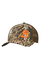 Stackin Bills Realtree Max-5 Camo with Hunter Orange Logo Mesh Snapback Cap MAX