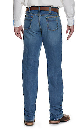 Cinch Men's White Label Light Stonewash Relaxed Fit Straight Leg Performance Stretch Jean