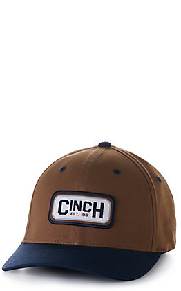 Cinch Brown and Navy Logo Patch Cap