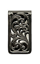 Montana Silver Smith Black Nickle Square Fililgree Money Clip