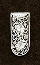 Montana Silversmiths Antique Sheridan Rose Money Clip