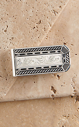 Montana Silversmiths Roped Horseshoe Nail Head Money Clip