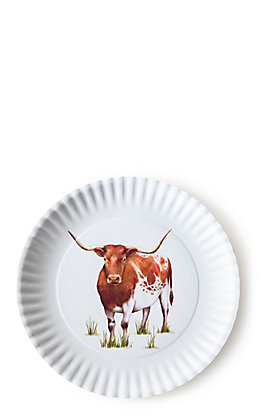 One Hundred 80 Degrees  Longhorn Design Melamine Platter