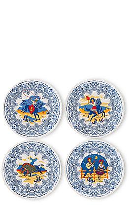 One Hundred 80 Degrees Keep the Faye Southwest Design Set of 4 Melamine Plates