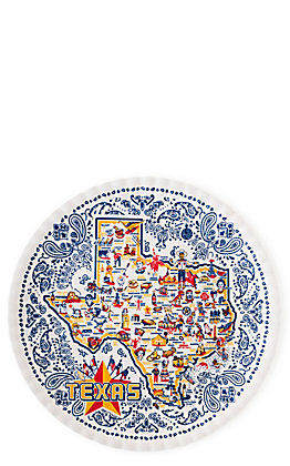 One Hundred 80 Degrees Keep the Faye Map of Texas Platter