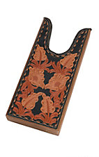 M&F Tooled 3 Tone Tooled Floral with Black Underlay Boot Jack