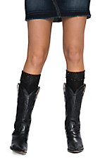Blazin Roxx Women's Black with Sparkle Top Socks