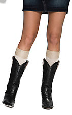 Blazin Roxx Women's Cream with Champagne Sparkle Top Socks