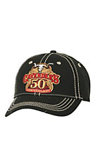 Cavender's Solid Black with 50th Anniversary Logo Cap MF1546501
