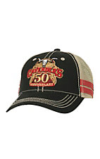 Cavender's Black with 50th Anniversary Logo Mesh Back Cap MF1546601