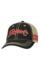 Rafter C Black with 3D Logo & Tan Mesh Trucker Cap MF1546701