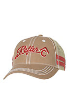 Rafter C Khaki with 3D Logo & Tan Mesh Trucker Cap MF1546808