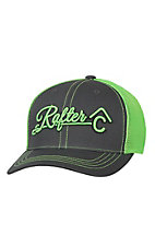 Rafter C Charcoal with Lime 3D Logo & Mesh Trucker Cap MF1547226