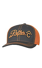 Rafter C Charcoal with Orange 3D Logo & Mesh Trucker Cap MF1547226
