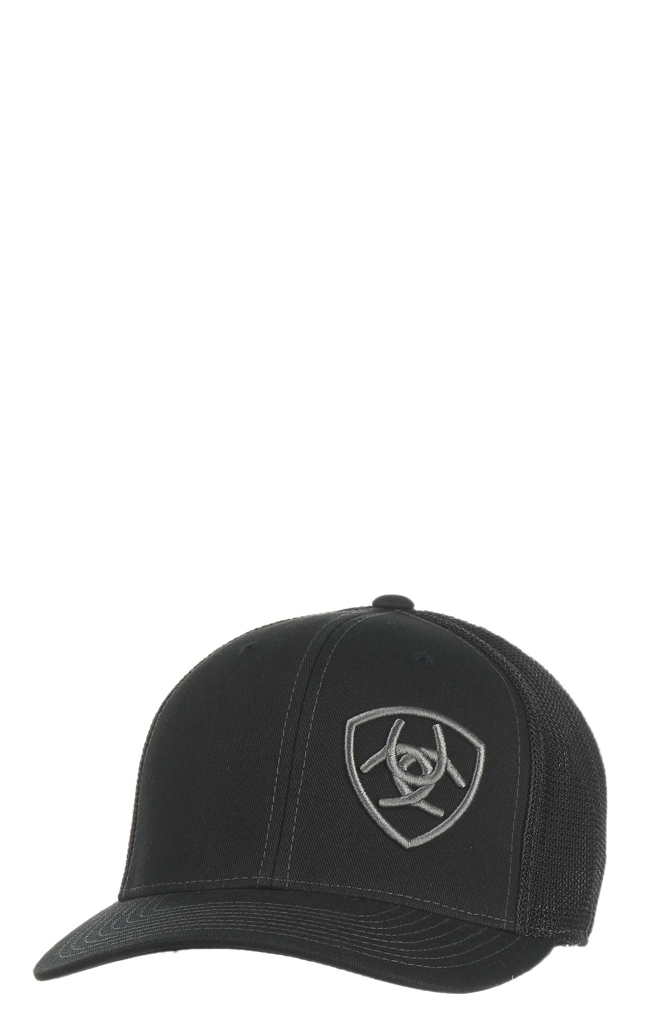 Ariat Black with Grey Logo Mesh Snap Back Cap  5a360994937