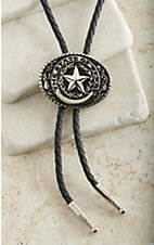 M&F Western Silver State Of Texas Center Oval Bolo Tie
