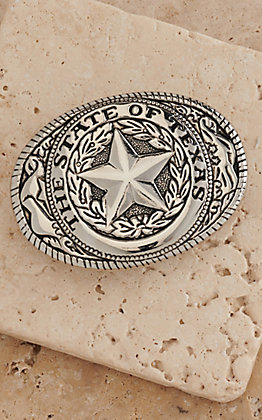 M&F Western Products Kids Silver State of Texas Buckle