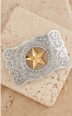 M&F Western Products Silver Buckle with Star Cutout
