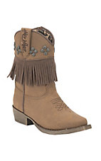 Blazin Roxx Toddler Brown with Fringe Snip Toe Western Boots