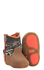 Double Barrel by M&F Infant Gunner Brown & Camo Western Booties