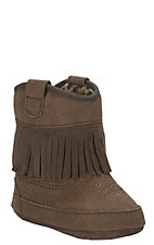 M&F Infant Brown with Western Fringe Baby Bucker Annabelle Boots