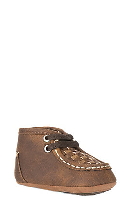 Blazin Roxx Infant Brown with Tan Patchwork Chukka Moc Casual Shoe