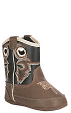 DBL Barrel Infant Brown and Black Baby Bucker Boots