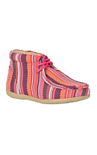 Blazin Roxx Kids' Pink Multi Fabric Chukka Shoe