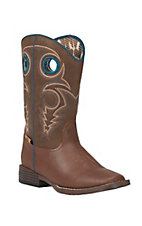 Double Barrel by M&F Childrens Dylan Rust w/ Brown Top Square Toe Western Boots