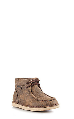 M&F Kids Brown Casual Lace Up Shoe