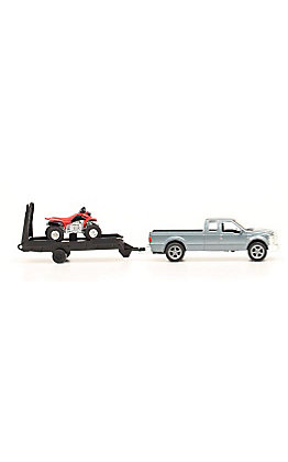 M&F Bigtime Rodeo Ford Truck and 4 Wheeler Trailer Toy Set