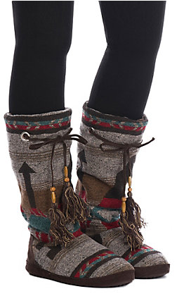 Blazin Roxx Women's Brown, Red, Blue Natalie Tall Slippers