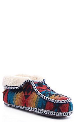 Blazin Roxx Women's Luna Multi Red, Orange & Turquoise Aztec Print Slippers
